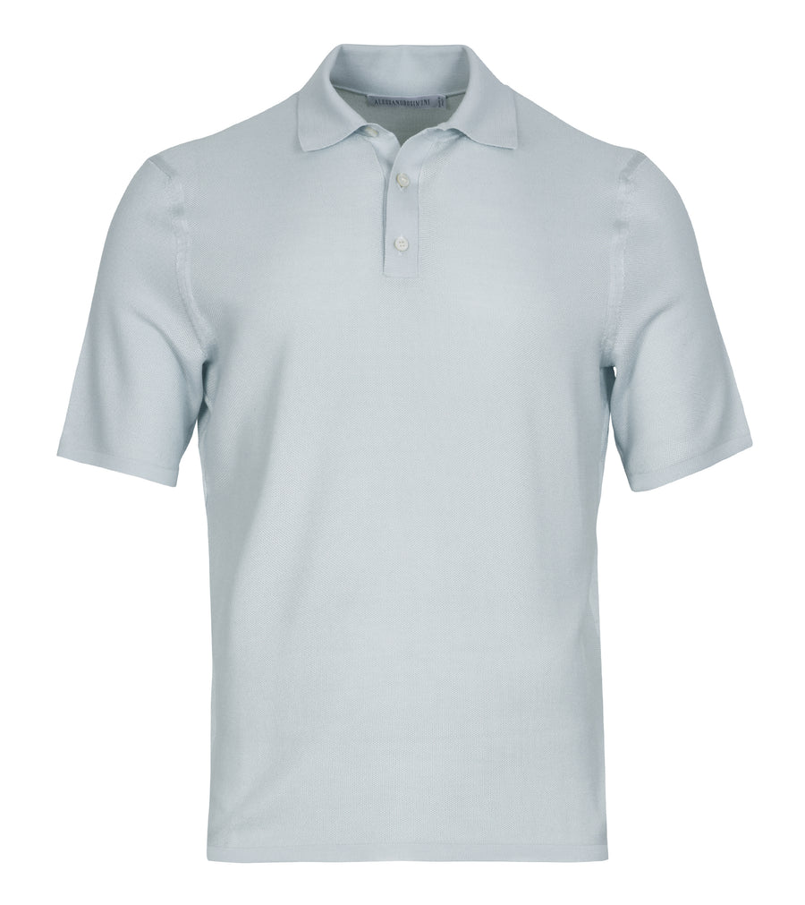Silk Button Polo