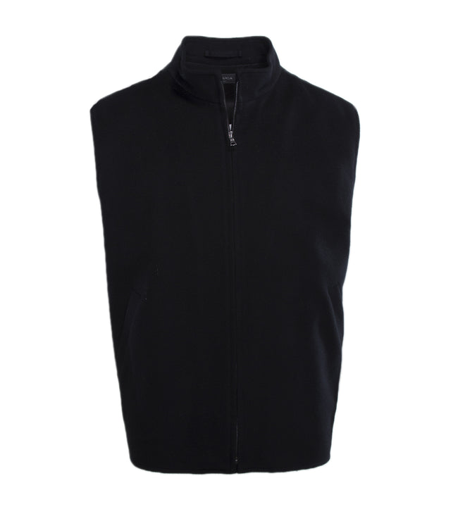 Wool Cashmere Zippered Vest