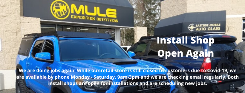 Safety First! Install Shops at Both Locations Now Open Again