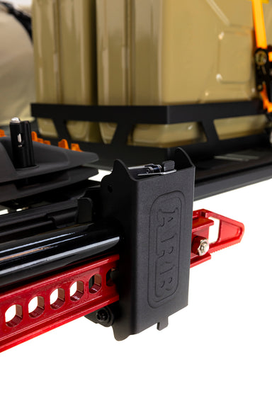 ARB 4x4 Accessories premium mount kit to mount a Hi-Lift Jack to an ARB BASE Rack.