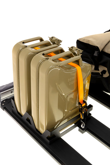 ARB 4x4 Accessories BASE Rack jerry can mount designed to hold two jerry cans in a vertical position.