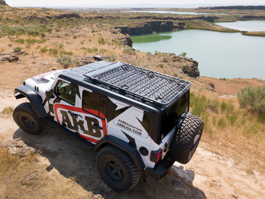 ARB Jeep Wrangler JL Alloy Flat Rack System 4913020MKJL sold by Mule Expedition Outfitters www.dasmule.com