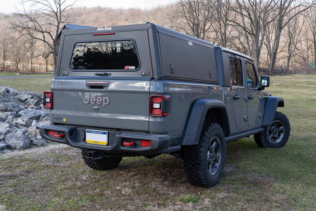 Alu-Cab Explorer Canopy for Jeep Gladiator JT - (Smooth Black) sold by Mule Expedition Outfitters www.dasmule.com