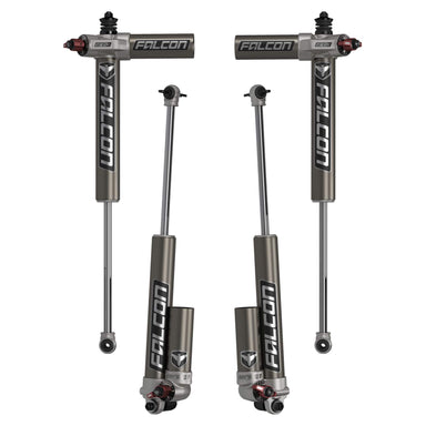 "JK 2-Door: Falcon Series 3.3 Fast Adjust Piggyback Shocks (3-4.5"" Lift) - Set"