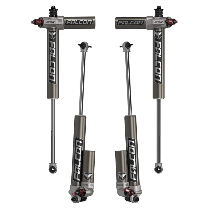 "JK 2-Door Falcon Series 3.3 Fast Adjust Piggyback Shocks (1.5-2.5"" Lift) - Set"