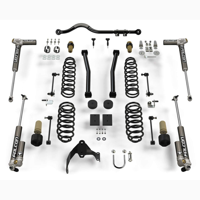 "JK 2-Door Sport S/T2 Suspension System (2.5"" Lift) w/ Falcon 3.2 Shocks"