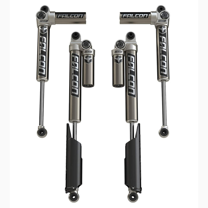 "JLU 4-Door: 0-1.5"" Lift Falcon Series 3.1 Piggyback Shock Absorbers - All 4"