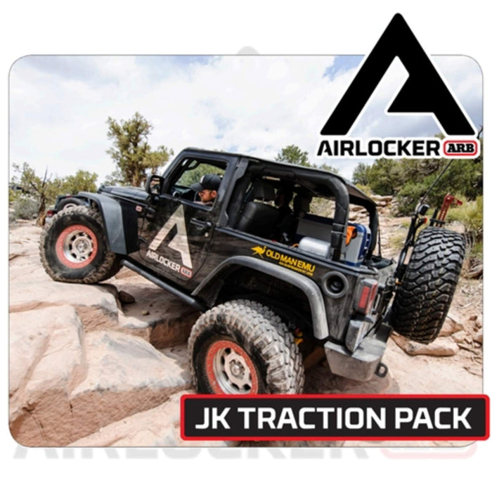 2007 - 2018  Jeep JK Non-Rubicon with Aftermarket Dana 44 front axle, ARB Air Locker Traction Package