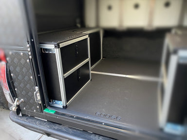 ALU-CAB CANOPY CAMPER VERSION 2.0 DOUBLE DRAWER MODULE JEEP GLADIATOR JT