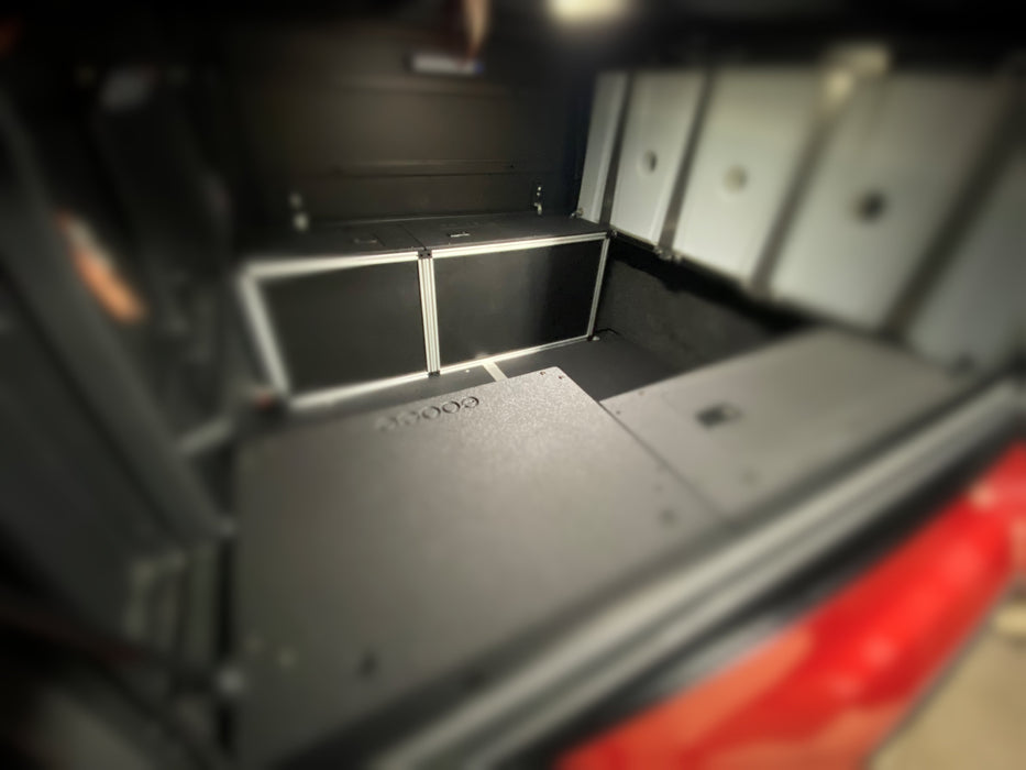 ALU-CAB CANOPY CAMPER VERSION 2.0 FRONT UTILITY MODULE TOYOTA TACOMA 5 FOOT BED 2005-PRESENT