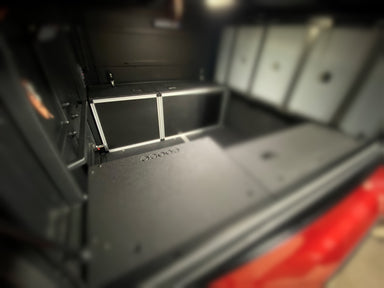 ALU-CAB CANOPY CAMPER VERSION 2.0 REAR UTILITY CABINET - TOYOTA TACOMA 2005-PRESENT 2ND AND 3RD GENS