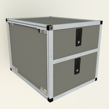 "Goose Gear Double Drawer Module - 19 3/16"" Wide X 25"" Depth"