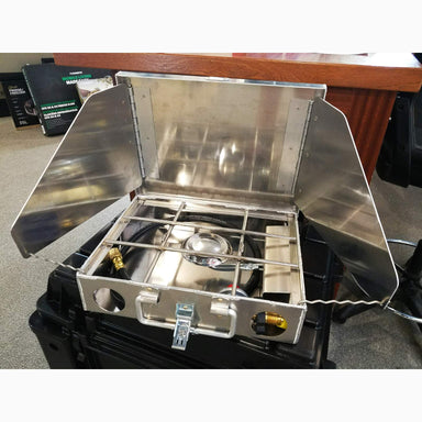 "COOK PARTNER 9"" SINGLE BURNER STOVE WITH WINDSCREEN sold by Mule Expedition Outfitters"