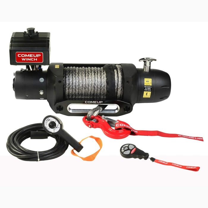 COMEUP SEAL GEN2 12.5RS 12 VOLT WINCH WITH SYNTHETIC ROPE AND WIRELESS REMOTE