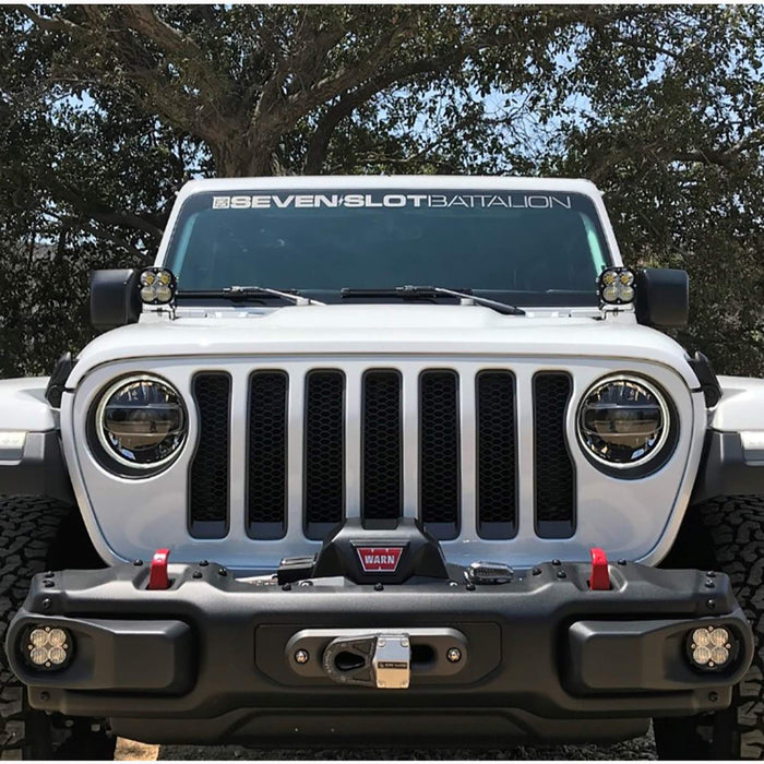 Jeep JL Fog Pocket Kit 2018 Wrangler JL Rubicon Squadron R Pro Baja Designs