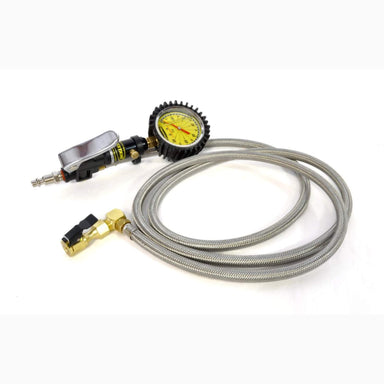 POWERTANK OVERLAND SAFETY SERIES - 0-60 PSI LIQUID ANALOG TIRE INFLATOR W/ 6' HOSE WHIP sold by Mule Expedition Outfitters www.dasmule.com