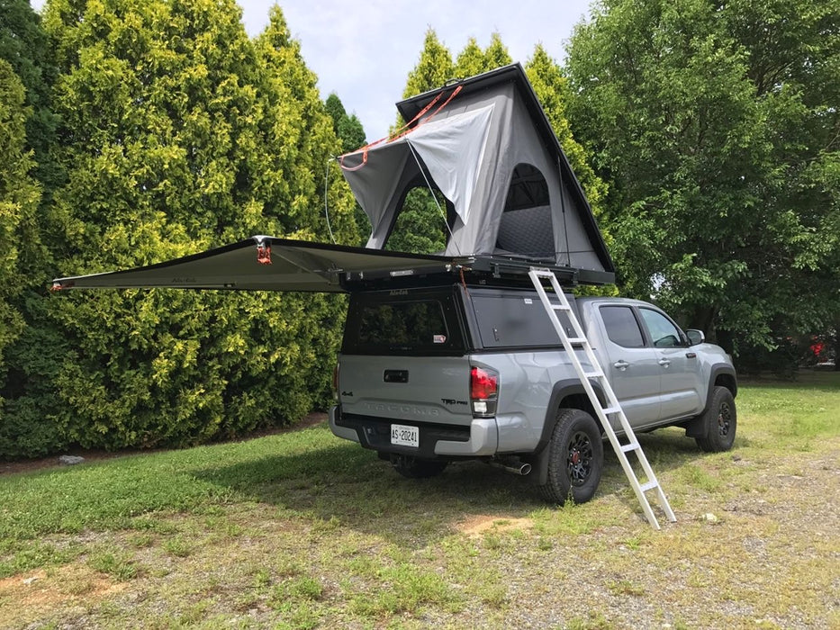 Alu-Cab Explorer Canopy for Toyota Tacoma 16 On Shortbed - (Smooth Black) sold by Mule Expedition Outfitters www.dasmule.com
