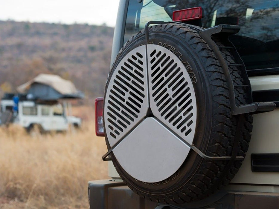 SPARE TIRE MOUNT BRAAI/BBQ GRATE - BY FRONT RUNNER - VACC023 sold by Mule Expedition Outfitters www.dasmule.com