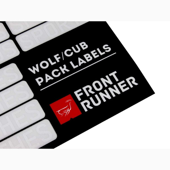 Front Runner Wolf/Cub Pack Campsite Organizing Labels