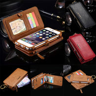 Retro Business Multifunctional Leather Wallet Case for your iPhone