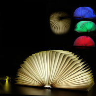 Foldable Wooden LED Nightlight Book Lamp