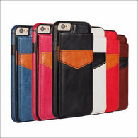 Leather Card Slot Holder Flip Stand Back Cover Case For iPhone
