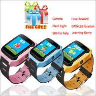 GPS Kid Tracker Smart Wristwatch with Remote camera and two-way communication