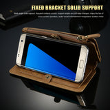 Retro Business Multifunctional Leather Wallet Case for your Galaxy