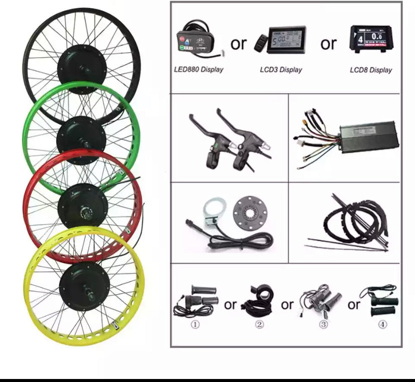 1000watt fat bike kit