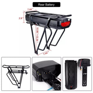 48v 12ah Rear Rack battery
