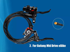 Hydraulic disc brakes for Ebike kit
