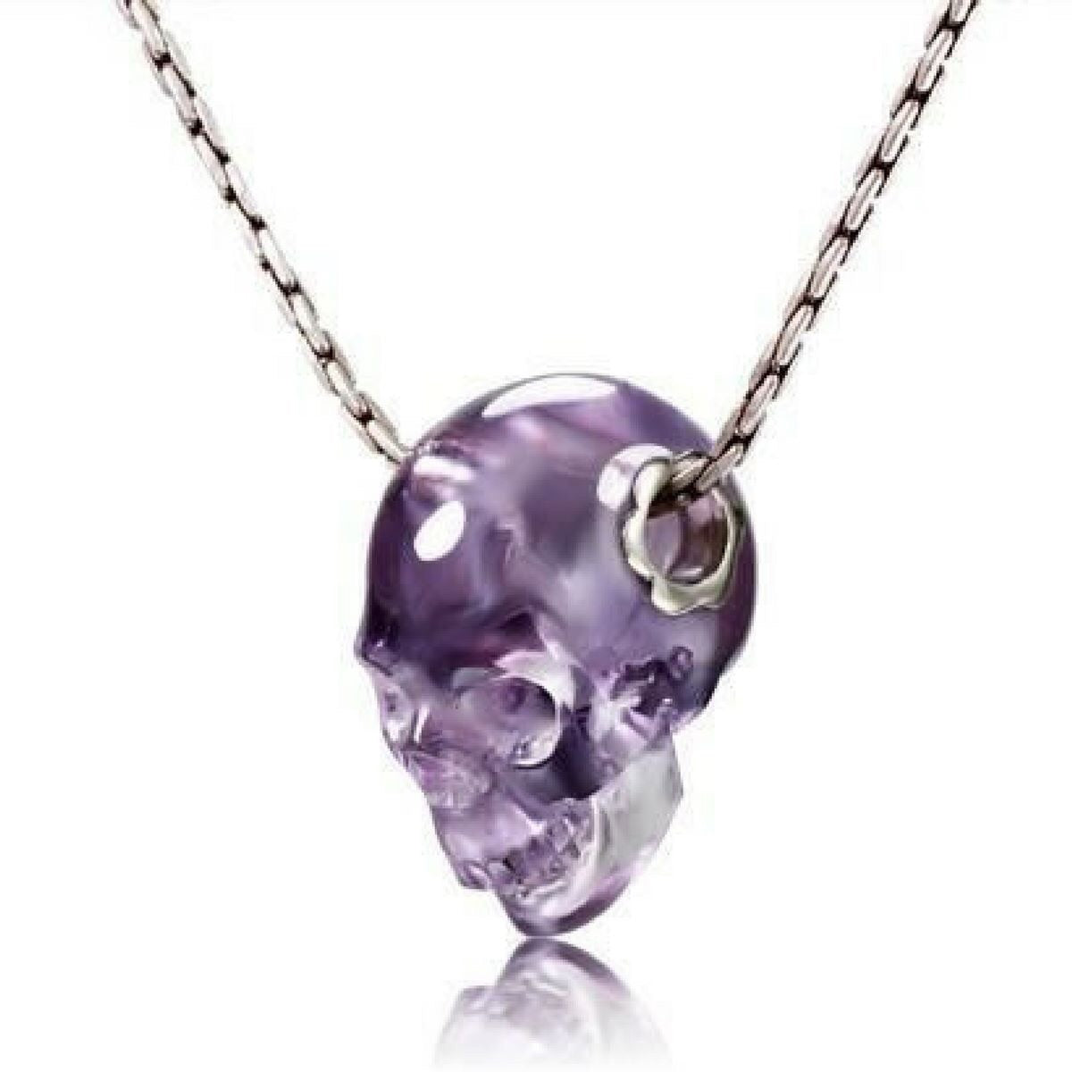 Amethyst carved crystal skull pendant click n getz amethyst carved crystal skull pendant aloadofball Choice Image