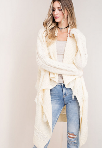 Open Fringed Sweater