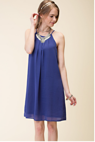 Slated Halter Dress