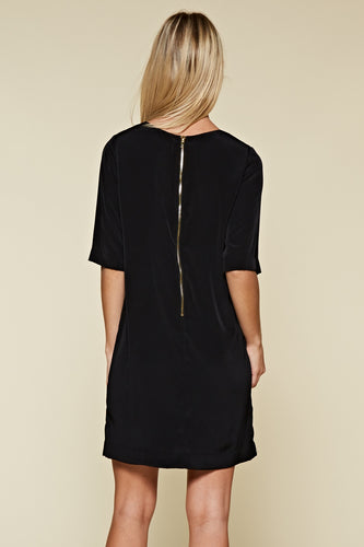 Zip it Up Exposed Zipper Dress