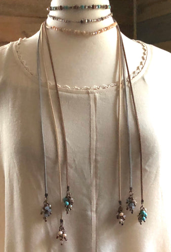 Long Suede Necklace