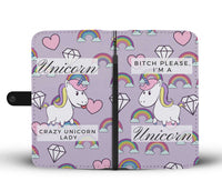 Unique and Witty Unicorn Design Wallet Protection Case for iPhone, Samsung Galaxy, LG, Google Pixel, Huawei, Nokia, HTC, Motorola, and  Xiaomi