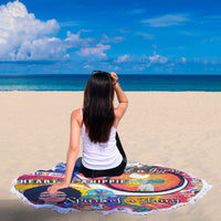 Super Cozy Wanderer Design Round Beach Blanket
