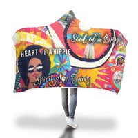 Super Comfy Gypsy, Hippie, Fairy Design Hooded Blanket
