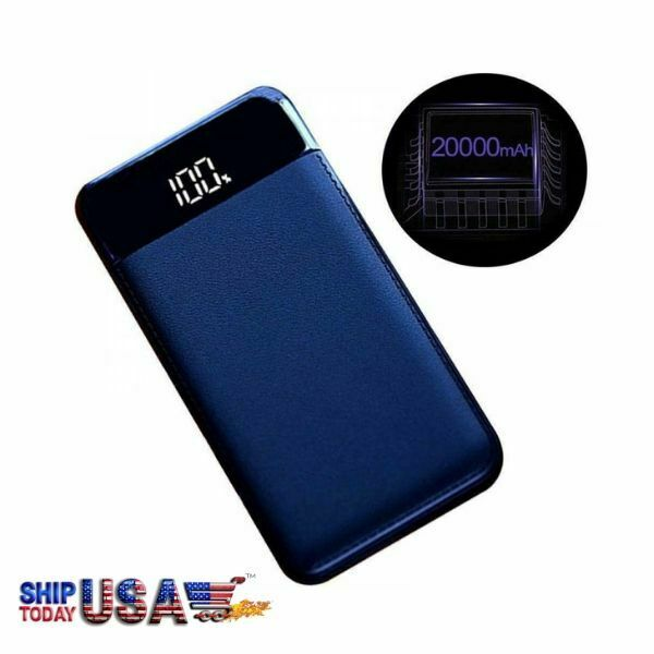 LED Power Display 20000mah High Capacity  External Battery Power Bank