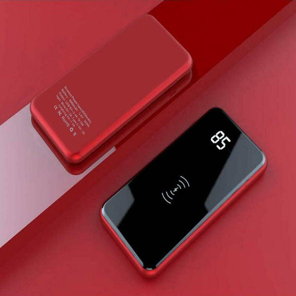 Qi Wireless Charging 20000mAh Dual-USB LCD Screen Portable Power Bank
