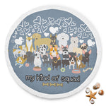 Dog Squad Round Mat Beach Yoga Bed Blanket