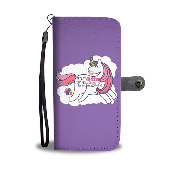 Unicorn in Clouds Wallet Phone Protection Case