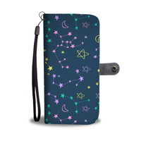 Moon and Stars Wallet Phone Case