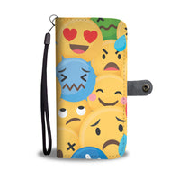 Emoji Design Wallet Phone Protection Case