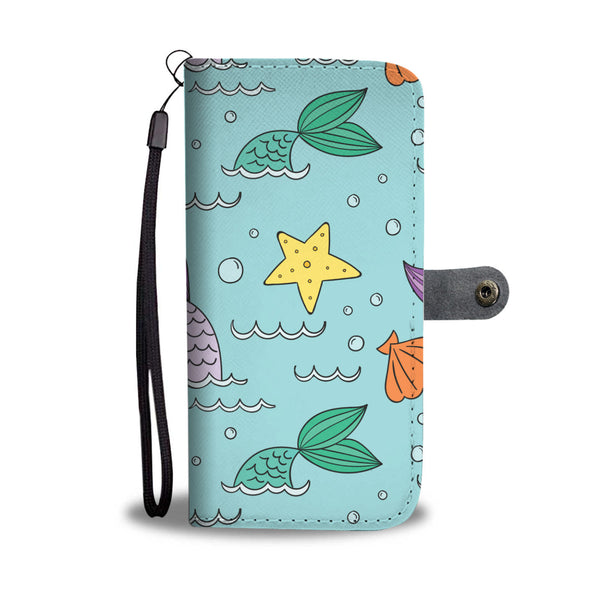 Mermaid Starfish Shell Wallet Protection Phone Case