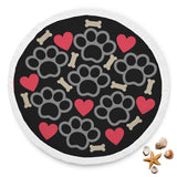 Love Dogs Yoga Mat Beach Blanket