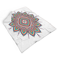 Cozy Mandala Design Sherpa Blanket (for Adults)
