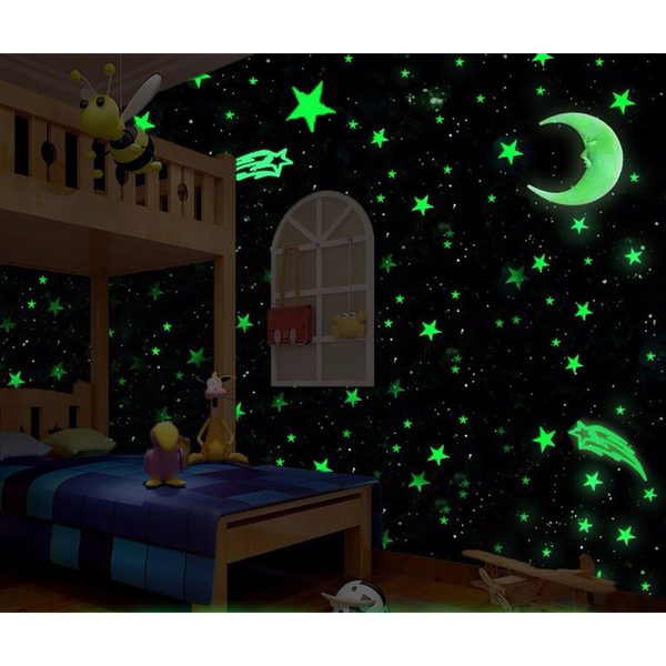 50pce Glow in the Dark Wall Stickers