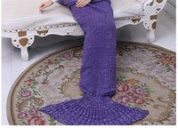 Mermaid's Soft Handmade Crochet Tail Blanket for Kids and Adults